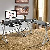 Best Choice Products Wood L-Shape Corner Computer Desk PC Laptop Table Workstation Home Office Black