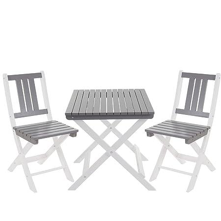 LD Jardín Juego de Salzburg, mesa silla, madera Gastro Calidad plegable