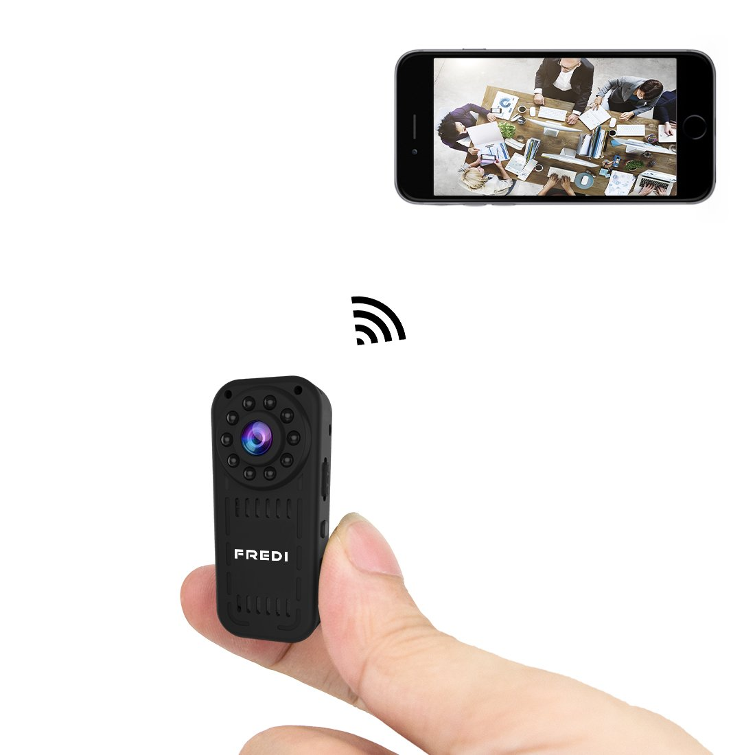FREDI hidden camera 1080p HD mini wifi camera spy camera ...