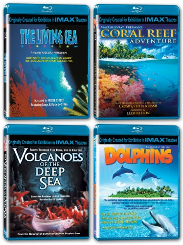 IMAX: Oceans Collection (The Living Sea/Coral Reef Adventure/Volcanoes of the Deep Sea/Dolphins) [Blu-ray]