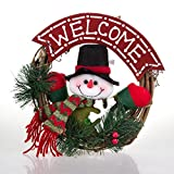Soft Digits® Christmas Gift Christmas Wreath Christmas Rattan Hoop Christmas Decoration Hangings Door Trim Garland Christmas Tree Accessories (SG-003)