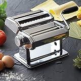 Edle Nudelmaschine Pasta Maker Pastamaschine Edelstahl für 7 Nudelstärken -