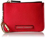 A|X Armani Exchange Pebble PU Card Case Wallet, Absolute Red, One Size