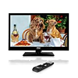 Pyle 18.5-Inch 1080p LED TV | Ultra HD TV | LED Hi Res Widescreen Monitor HDMI Cable RCA Input | LED TV Monitor | Audio Streaming | Mac PC | Stereo Speakers | HD TV Wall Mount (PTVLED18) (Tamaño: 18.5 inches)