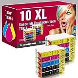ms-point® 10 kompatible Druckerpatronen für Epson Expression Home XP-30 XP-205 XP-305 XP-405 XP-202 XP-302 XP-102 Patronen kompatibel zu T1811 T1812 T1813 T1814