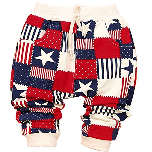 Little Hand Baby Boys' Star Stripe Splicing Color Block Knit Pants Trousers front-871872