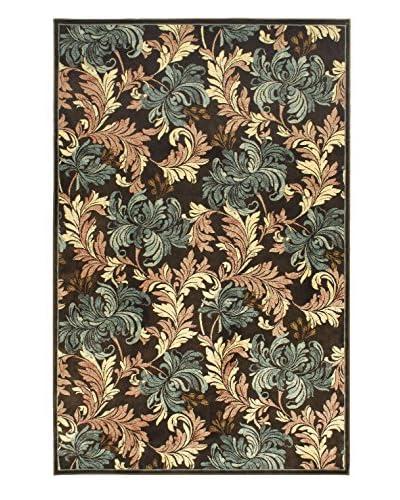 Botanical Garden Rug, Cream/Dark Brown, 4' 11 x 7' 7
