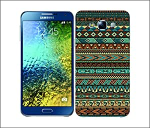 Galaxy Printed 1577 AMERINDIAN PATTERNS GREEN Hard Cover for samsung E5