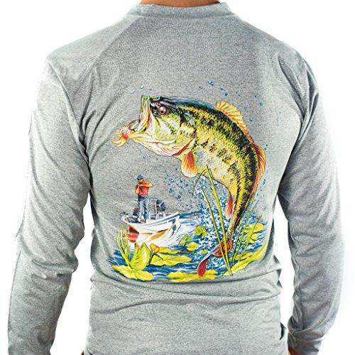 All american fishing performance dri fit shirt men 39 s for Mens medium long sleeve shirts