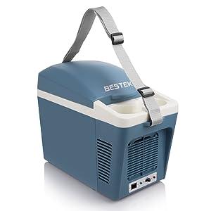 BESTEK 冷温庫 車載用 ドリンクホルダー付き 小型でポータブル 7L BTCR07