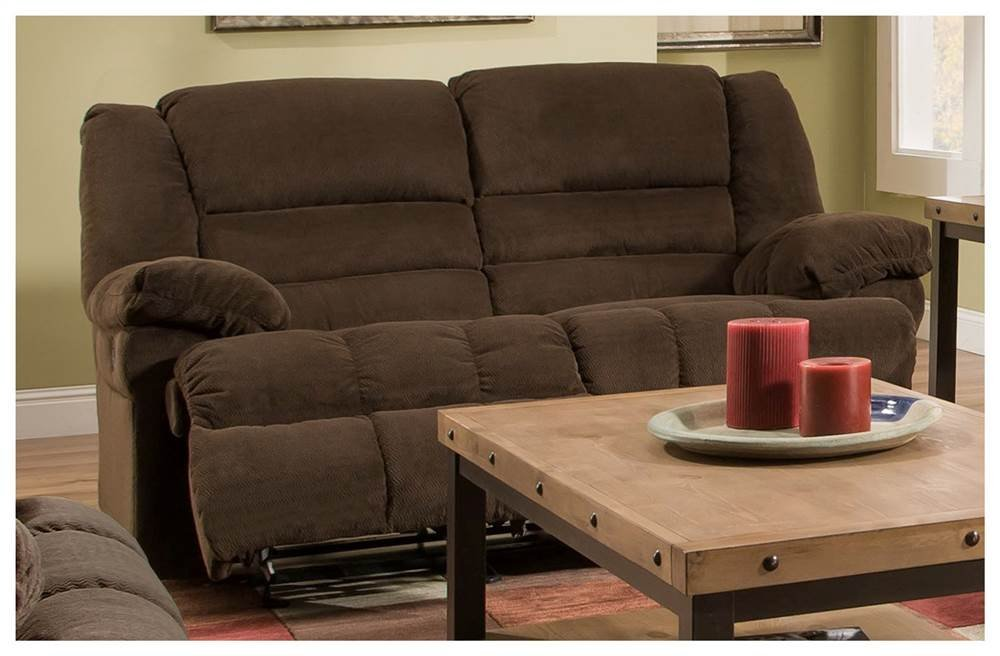 Double Motion Loveseat in Chocolate