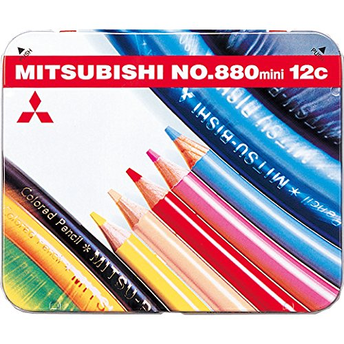 미츠비시 연필 미니 색연필 880 12색 K880M12CP