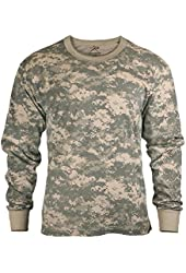 Mens Army Digital Camo Long Sleeve T-shirt