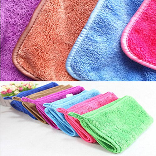 Ainest 24*29cm Bamboo Fiber Dish Towel Colorful Kitchen Dishcloth Slip Cleaning Towel Pink (Pink Dish Clothes compare prices)