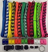 550 Paracord Survival Bracelet Kit Type III 7 Strand with 140 Feet and 14 3/8