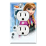 Duplex Wall Outlet Plate Decor Wallplate - Frozen Anna Olaf (Color: Multicolored, Tamaño: Midway)