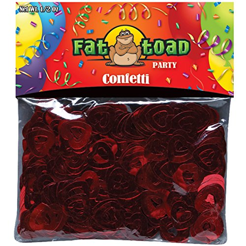 Axiom International  Red Hearts Confetti, 0.5-Ounce, 1-Pack