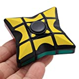 Blueseao Smooth and Speed 1x3x3 Rubiks Cube Puzzle Spinner Focus EDC Toy for Relieving (Tamaño: 5.5x5.5x2cm,)