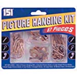 151 Picture Hanging Kit DIY 87 Piece...