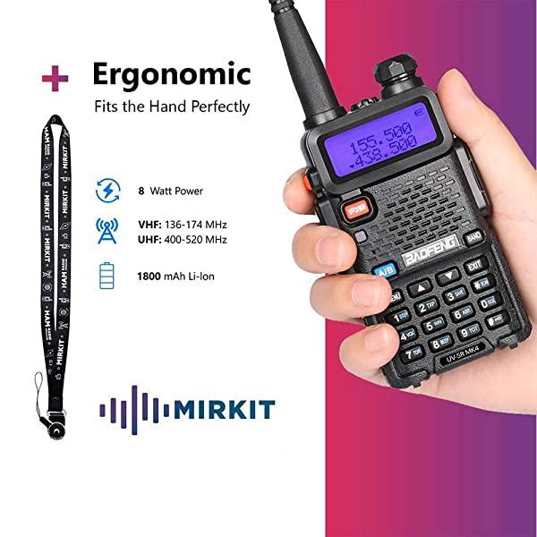 RADIOS BAOFENG 2PCS UV-5R MK4 POTENCIA MÁXIMA DE 8 VATIOS MP CON CABLE DE PROGRAMACIÓN.  Compatible con radio de jamón Baofeng, radios bidireccionales Edición Mirkit