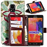 DONZO Wallet Flowers Custodia per Samsung Galaxy Note 4 N910 giallo