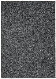 Garland Rug Southpointe Shag Area Rug, 4-Feet by 6-Feet, Black/White/Gray