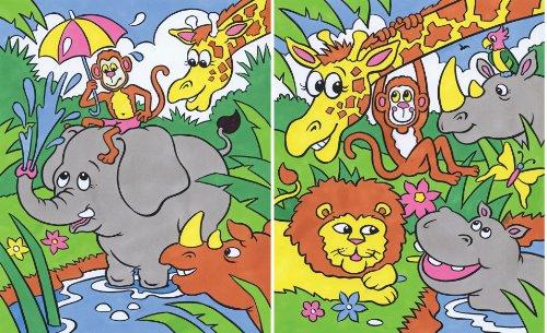 Reeves - Il mio primo dipinto di numeri, divertente giungla (Formal Pratiche educative ColArt 308)