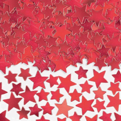 Amscan Star Confetti (Super Value Pack), 5 oz., Red