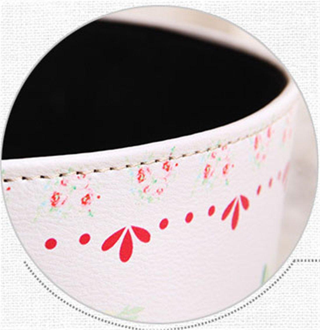 Bestwoo Retro Waterproof Trash Can Flower Pattern Waste Bin without Lid (M, Style 5) 3