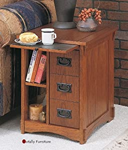 Powell furniture multi functional wooden end table shop for Functional side table