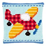 Vervaco Little Plane Cross Stitch Cushion Multi Colour