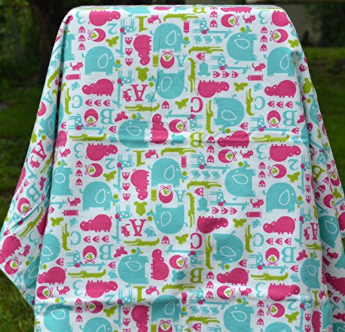 Blanket - Nursery Animals - Double Sided Cotton Flannel Blanket