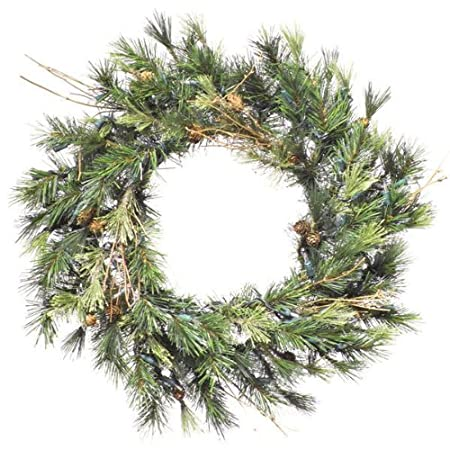 "16"" Mixed Country Pine Wreath – Amazon.com"