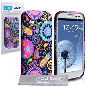 Yousave Accessories Jellyfish Silicone Cover Case with Screen Protector for Samsung Galaxy S3