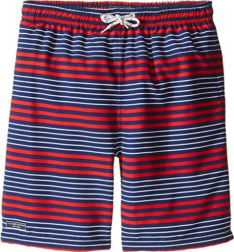 faef3e0267 Toobydoo Baby Boy's Multi Stripe White Lace Draw String Swim Shorts (Infant /Toddler/Little Kids/Big Kids)