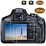 Rebel T7 Screen Protector Appliable for Canon EOS Rebel T7 DSLR Camera & Hot Shoe Cover, [2+3Pack] ULBTER 0.3mm 9H Hardness Tempered Glass Flim Anti-Scrach Anti-Fingerprint Anti-Bubble Anti-Water (Color: Rebel T7, Tamaño: M50)