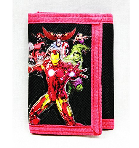 Trifold Wallet - Marvel - Avengers All Heroes Black Anime Boys New ac24790 - 1