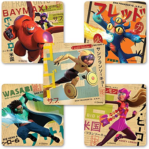 Big Hero 6 Stickers - Birthday Party Supplies and Favors - 75 per Pack