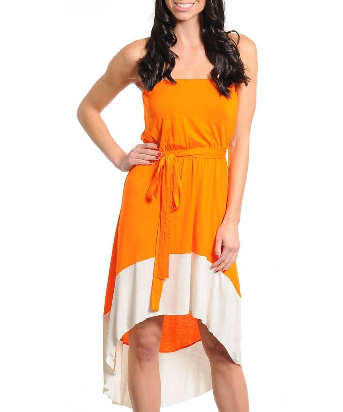 G2 Fashion Square Colorblocked High-Low Tube Dress: