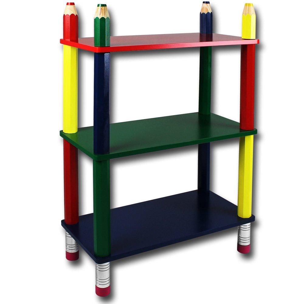 Kindermöbel Bleistift oder Clown mit Modellauswahl – Kindersitzgruppe – Kinderzimmermöbel – Kinderregal – Kindergarderobe (Kinderregal Bleistift) jetzt kaufen