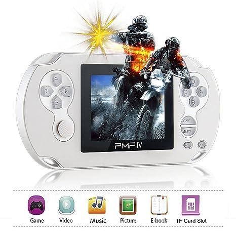 """XinXu Console de Jeux Handheld Game Consoles 3.0"""" Console de Jeu Joueur Classique Console de Jeux de Poch avec 566 Jeux (Blanc)"""