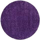 Safavieh Milan Shag Collection SG180-7373 Purple Round Area Rug, 7-Feet