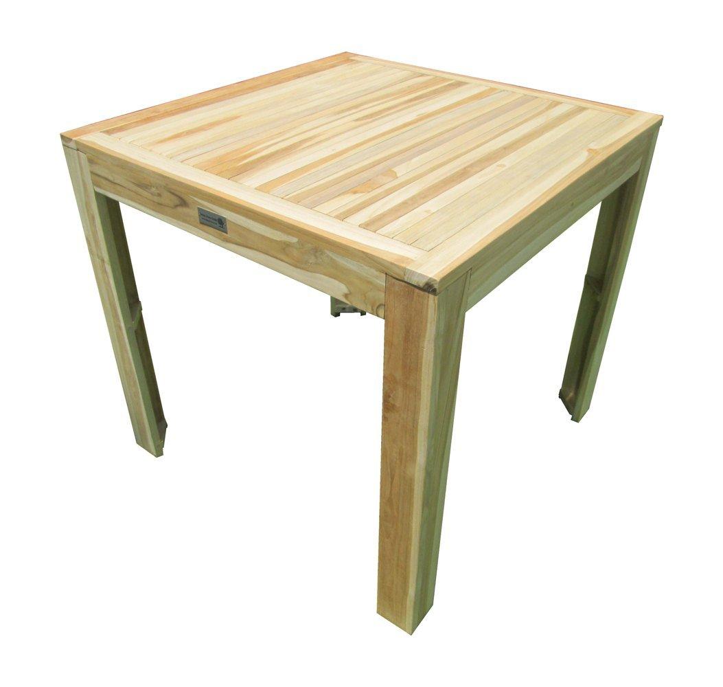 Teaktisch Esstisch Holztisch Teak Tisch 80 x 80 x 75 cm massiv und stabil online kaufen