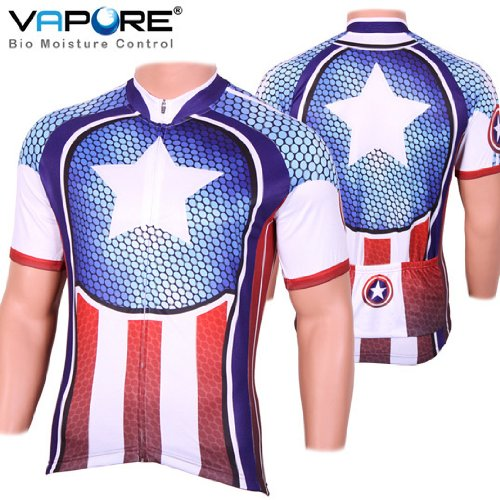 SPEG Captain Style Cycle Cycling Jersey USA - United States America RRP $80.99 bike shirt