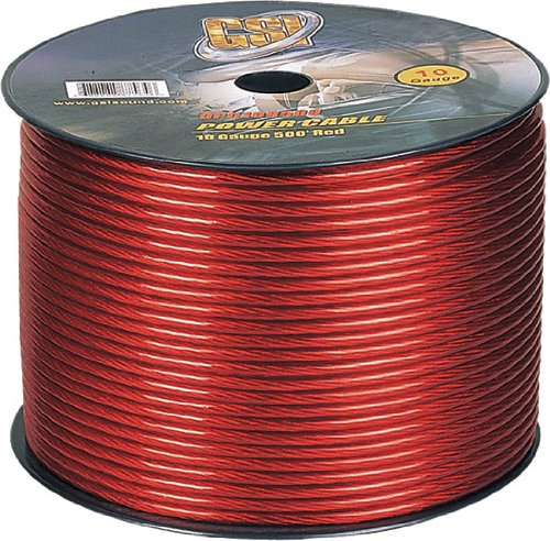 Gsi Gpc10R500 - 10 Gauge Power Ground Cables