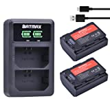 Batmax 2Packs 2280mAh NP-FZ100 NPFZ100 NP FZ100 Battery + LED Display Dual USB Charger for Sony NP-FZ100 Battery, BC-QZ1, Sony a9, a7R III, a7 III, ILCE-9 Digital Cameras (Tamaño: NP-FZ100 Battery sets)