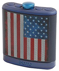 Sound Design iHome Rechargeable Flask Shaped Bluetooth Stereo Speaker - Black Skull (iBT12AMFLX)