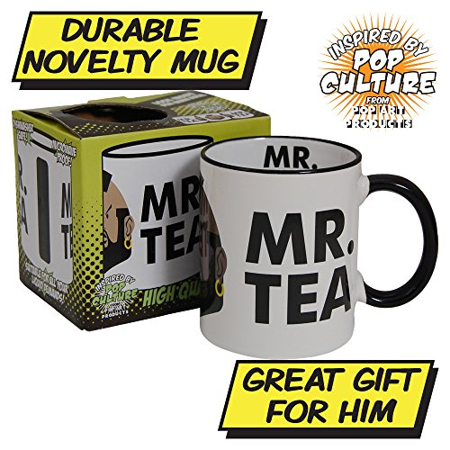 Mr. Tea Mug - Durable, dishwasher proof and gift boxed.