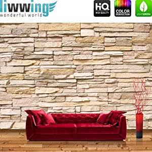 Vlies fototapete premium 300x210cm asian stone wall by - Fototapete asia ...
