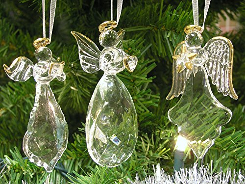 Angel Ornaments For Christmas Tree.Crystal Faith Hope Love Angel Ornaments With Gold Accents